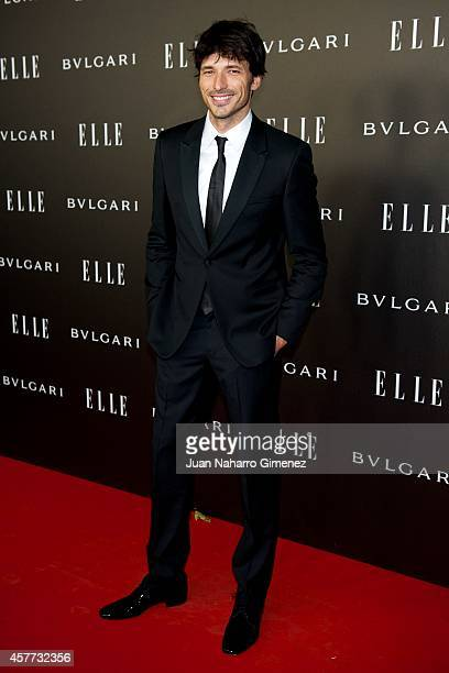 Andres Velencoso attends 'Elle Style Awards 2014' photocall at Italian Embassy on October 23 2014 in Madrid Spain