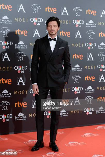 Andres Velencoso attends Goya Cinema Awards 2017 at Madrid Marriott Auditorium on February 4 2017 in Madrid Spain