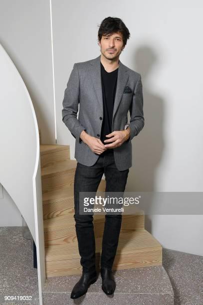 Andres Velencoso attends Mene 24 Karat Jewelry Presentation at Gagosian Gallery on January 23 2018 in Paris France