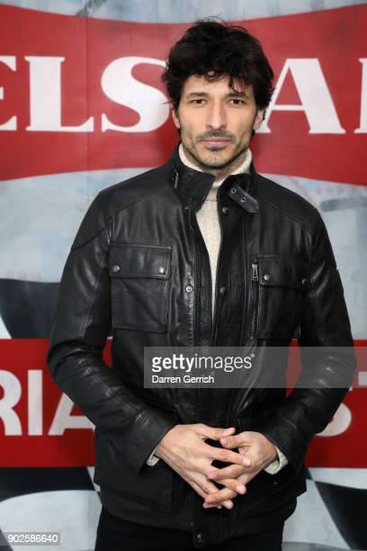 Andres Velencoso attends the Belstaff AW18 Mens Womens Presentation during London Fashion Week Men's January 2018 on January 8 2018 in London England