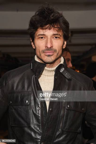 Andres Velencoso attends the Belstaff presentation during London Fashion Week Men's January 2018 at The Vinyl Factory Gallery on January 8 2018 in...