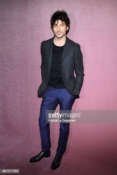 Andres Velencoso attends the Berluti Menswear Fall/Winter 20182019 show as part of Paris Fashion Week on January 19 2018 in Paris France