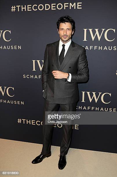 Andres Velencoso attends the IWC Schaffhausen 'Decoding the Beauty of Time' Gala Dinner during the launch of the Da Vinci Novelties from the Swiss...