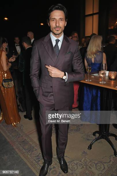 Andres Velencoso attends the IWC Schaffhausen Gala celebrating the Maison's 150th anniversary and the launch of its Jubilee Collection at the Salon...