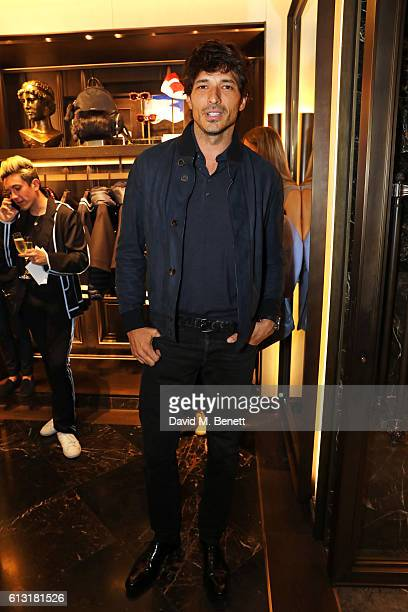 Andres Velencoso attends the Moncler RCA 'Freeze For Frieze' cocktail reception at the Moncler Bond Street Boutique on October 7 2016 in London...