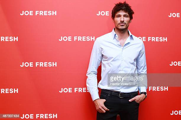 Andres Velencoso during the opening event of the new store of Joe Fresh at Palacio de Hierro on September 08 2015 in Mexico City Mexico