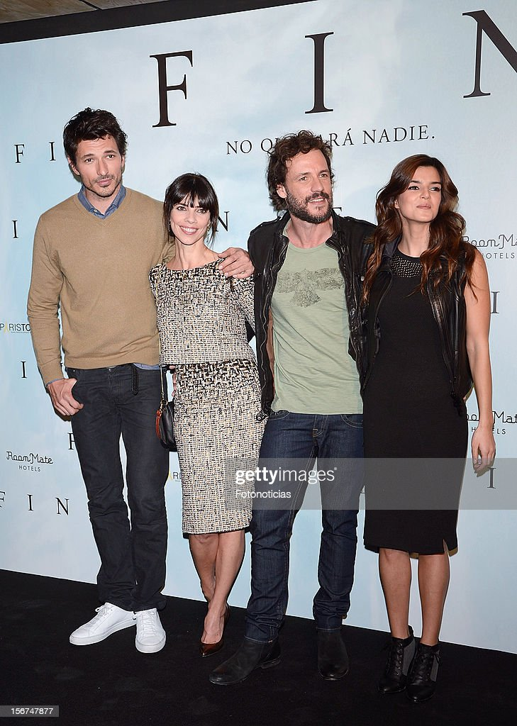Andres Velencoso, Maribel Verdu, Daniel Grao and Clara Lago attend a photocall for 'Fin' at the Room Mate Oscar Hotel on November 20, 2012 in Madrid, Spain.