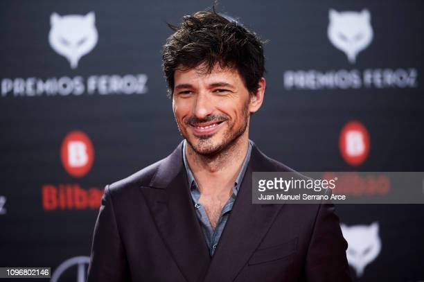 Andres Velencoso on the red carpet during the Feroz Awards 2019 on January 19 2019 in Bilbao Spain