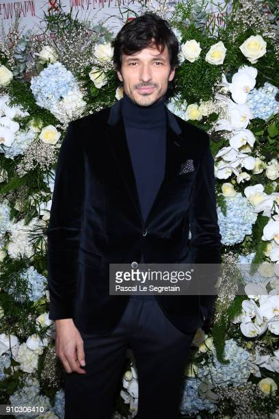 Andres Velencoso Segura attends the 16th Sidaction as part of Paris Fashion Week on January 25 2018 in Paris France