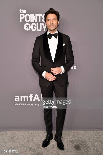 Andres Velencoso Segura attends the amfAR New York Gala 2019 at Cipriani Wall Street on February 6 2019 in New York City
