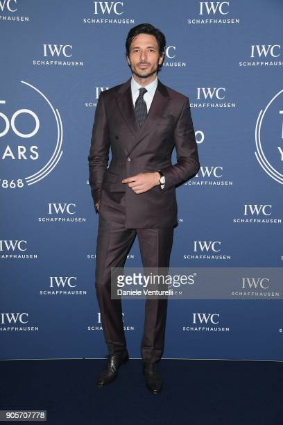 Andres Velencoso walk the red carpet for IWC Schaffhausen at SIHH 2018 on January 16 2018 in Geneva Switzerland