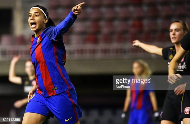 Andressa Alves during the Womens Champions League match between FC Barcelona and FC Twente on 09 november 2016