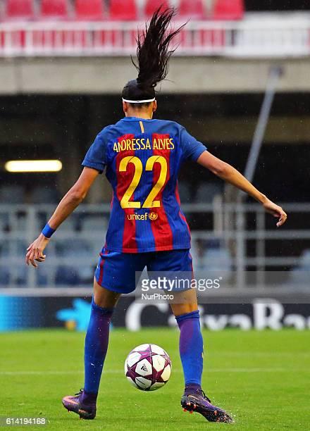 Andressa Alves during the womens Champions league match between FC Barcelona v FC Minsk in Barcelona on October 12 2016 Photo Joan...
