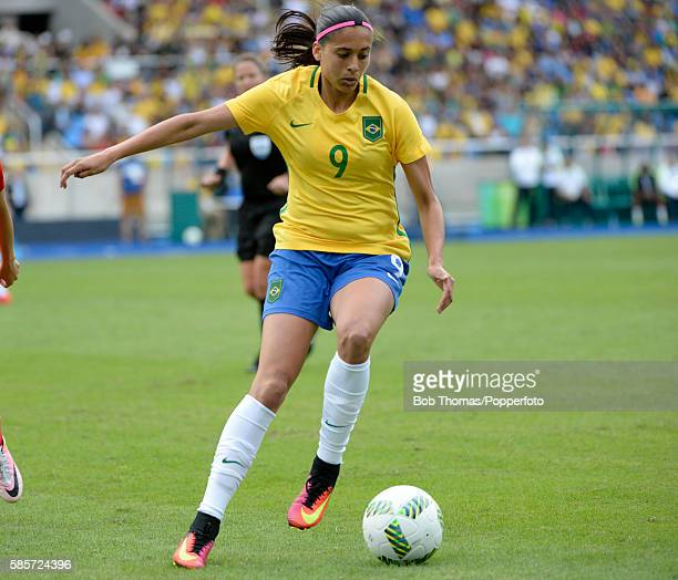 Andressa Alves in action for Brazil during the Women's Group E first round match between Brazil and China PR during the Rio 2016 Olympic Games at the...