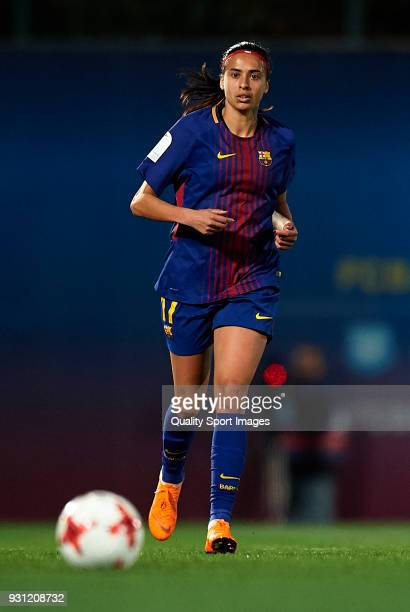 Andressa Alves of Barcelona in action during the Liga Femenina match between FC Barcelona Women and Atletico de Madrid Women at Ciutat Esportiva Joan...