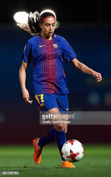 Andressa Alves of Barcelona in action during the Liga Femenina match between FC Barcelona Women and Atletico de Madrid Women at Ciutat Esportiva Joan...