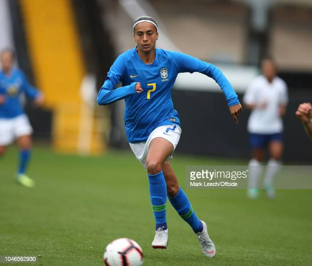 Andressa Alves of Brazil during the Womens Football International Friendly match between England and Brazil at Meadow Lane on October 6 2018 in...