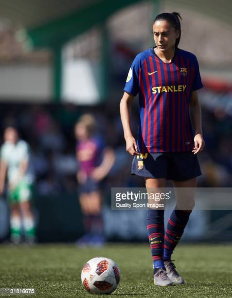 Andressa Alves of FC Barcelona in action during the La Liga Iberdrola first division match between Real Betis Balompie and FC Barcelona at Ciudad...