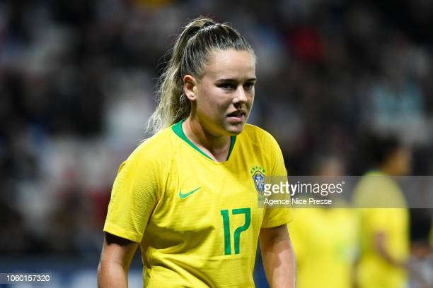 Andressa Machry of Brazil during the International Women match between France and Brazil at Allianz Riviera Stadium on November 10 2018 in Nice France