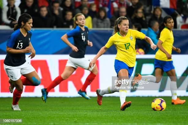Andressa Machry of Brazil of Brazil during the International Women match between France and Brazil at Allianz Riviera Stadium on November 10 2018 in...