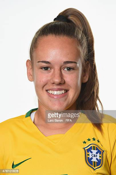 Andressa of Brazil poses during the FIFA Women's World Cup 2015 portrait session at Sheraton Le Centre on June 6 2015 in Montreal Canada