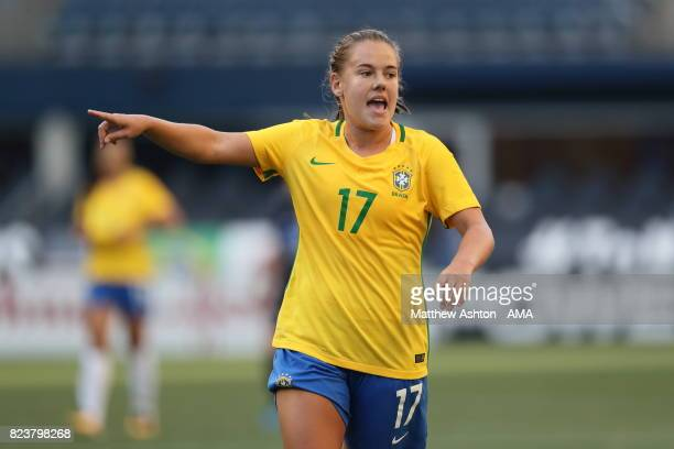 Andressinha of Brazil during the 2017 Tournament Of Nations match between Japan and Brazil at CenturyLink Field on July 27 2017 in Seattle Washington