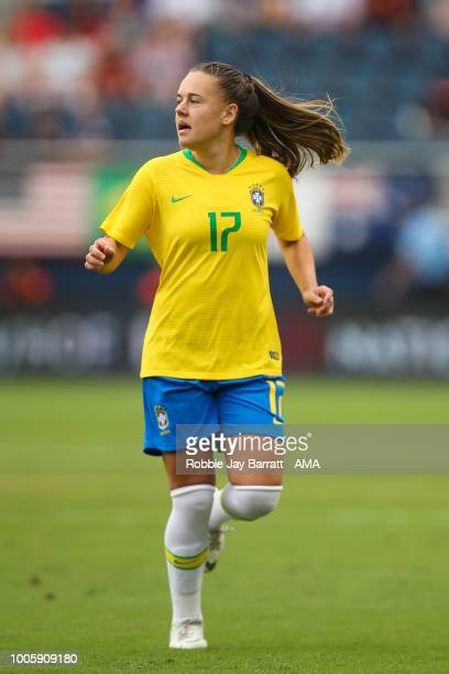 Andressinha of Brazil during the 2018 Tournament Of Nations women match between Australia and Brazil at Children's Mercy Park on July 26 2018 in...