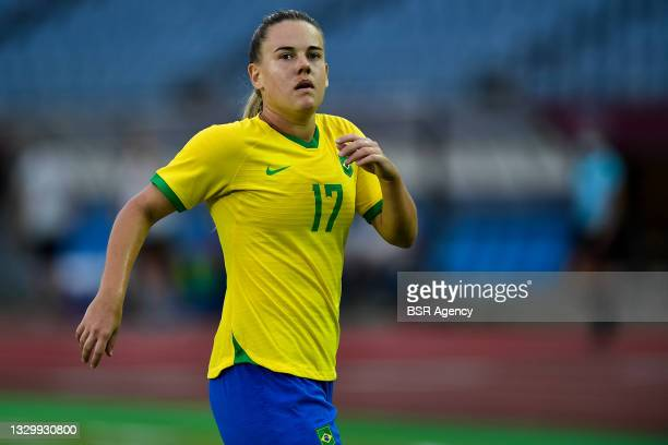 Andressinha of Brazil during the Tokyo 2020 Olympic Football Tournament match between China and Brazil at Miyagi Stadium on July 21, 2021 in Rifu,...