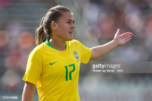 Andressinha of Brazil during the Tournament of Nations match between Japan and Brazil at Pratt Whitney Stadium on July 29 2018 in East Hartford...