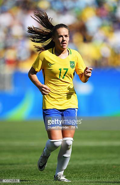 Andressinha of Brazil in action during the Olympic Womens Semi Final Football match between Brazil and Sweden at Maracana Stadium on August 16 2016...