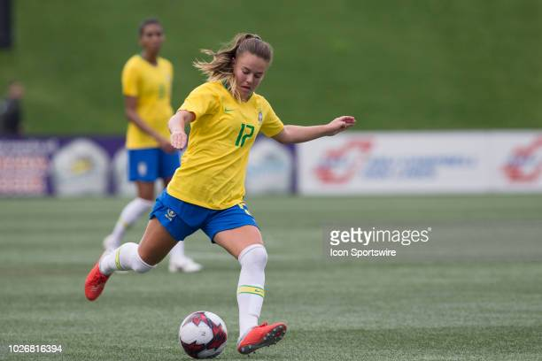 Andressinha of Brazil in an international FIFA women's friendly soccer match between Canada and Brazil at TD Place Stadium in Ottawa Canada September...