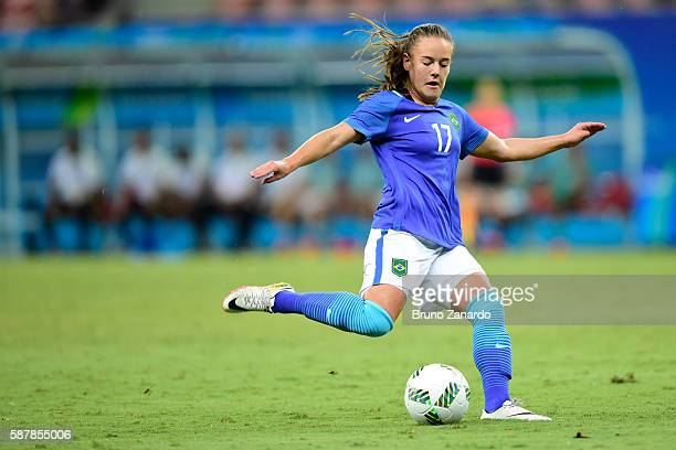 Andressinha player of Brazil in action during 2016 Summer Olympics match between Brazil and South Africa Women's Football at Arena Amazonia on August...