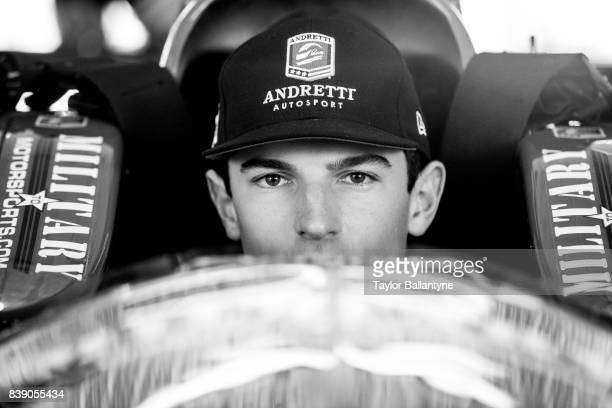 Andretti Autosport driver Alexander Rossi is photographed for Sports Illustrated on August 18, 2017 at Pocono Raceway, Verizon IndyCar Series, at...