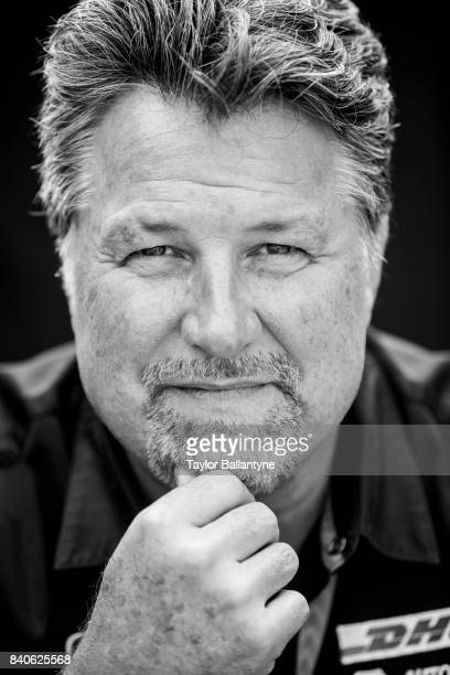 Andretti Autosport Michael Andretti is photographed for Sports Illustrated on August 20, 2017 at Pocono Raceway, Verizon IndyCar Series, at Long...