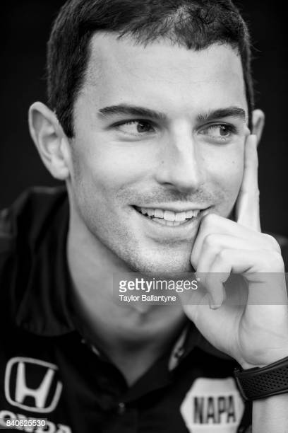 Andretti Herta Autosport with Curb-Agajanian driver Alexander Rossi is photographed for Sports Illustrated on August 19, 2017 at Pocono Raceway,...