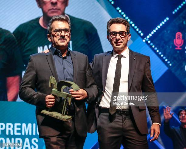 Andreu Buenafuente and Berto Romero attend the 66th Ondas Awards 2019 Gala held at the Gran Teatre Liceu on November 14 2019 in Barcelona Spain