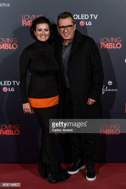 Andreu Buenafuente and Silvia Abril attend 'Loving Pablo' Madrid Premiere on March 7 2018 in Madrid Spain