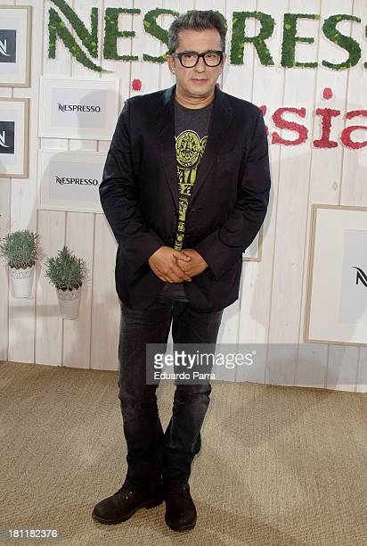 Andreu Buenafuente Attends Inissia by Nespresso party photocall at Neptuno palace on September 19 2013 in Madrid Spain