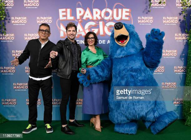 Andreu Buenafuente Silvia Abril and David Bisbal attend the 'Wonder Park ' premiere at Capitol cinema on March 30 2019 in Madrid Spain