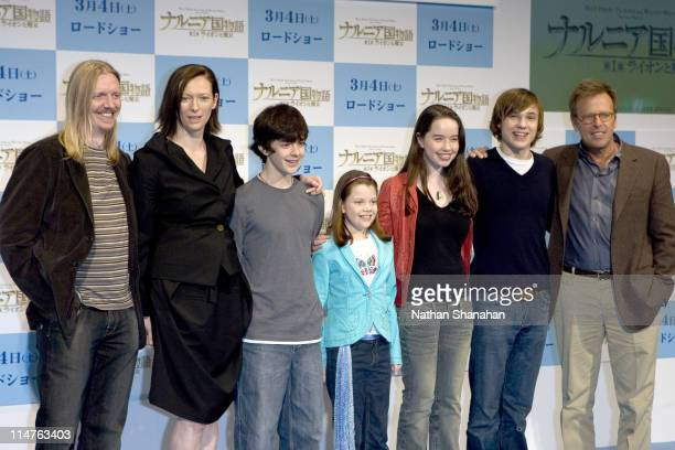 Andrew Adamson Director Tilda Swinton Skandar Keynes Georgie Henley Anna Popplewel William Moseley and Mark Johnson Producer