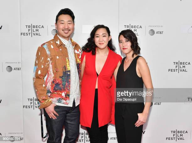 Andrew Ahn Naomi Ko and Carolyn Mao attend the screeing of 'Nice' at Tribeca TV Indie Pilots during the 2018 Tribeca Film Festival at Cinepolis...