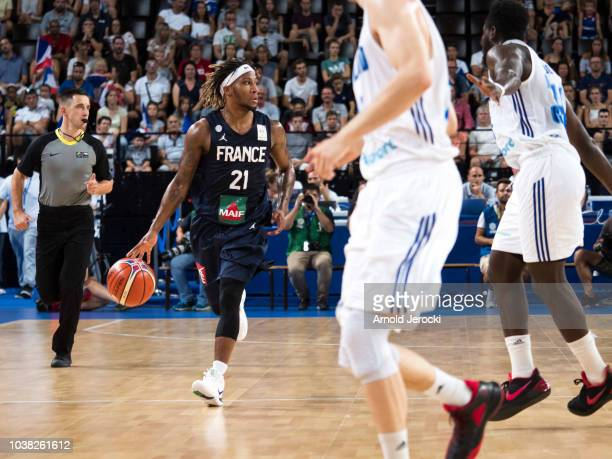 Andrew Albicy from France in action during the FIBA Basketball Wolrd cup 2019 qualifier match between France and Finland at the Sud de France Arena...