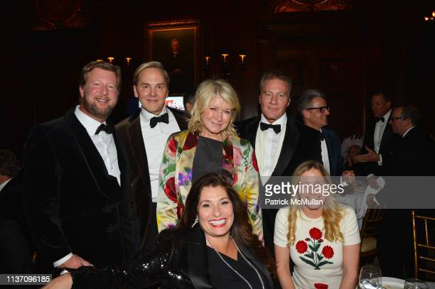 Andrew Allen, Jeffrey Bilhuber, Martha Stewart, Dolly Fox, Michael Dawkins and Katie Allen attend New York School Of Interior Design Annual Gala at...