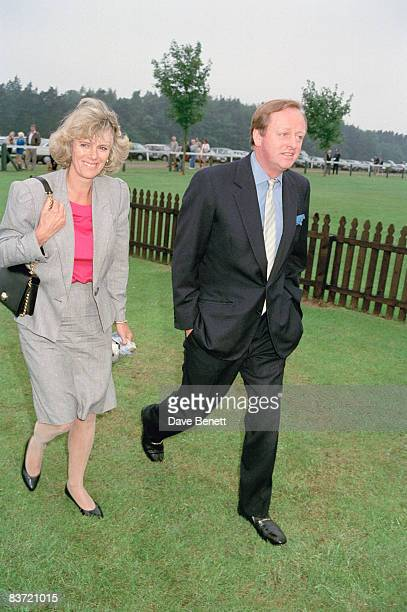 Andrew and Camilla Parker Bowles attend the Queen's Cup polo match at Windsor 7th June 1992