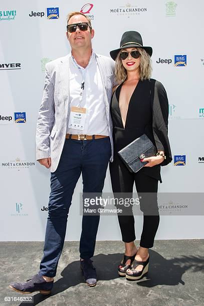 Andrew and Emma Baxter attend Magic Millions Raceday on January 14 2017 in Gold Coast Australia