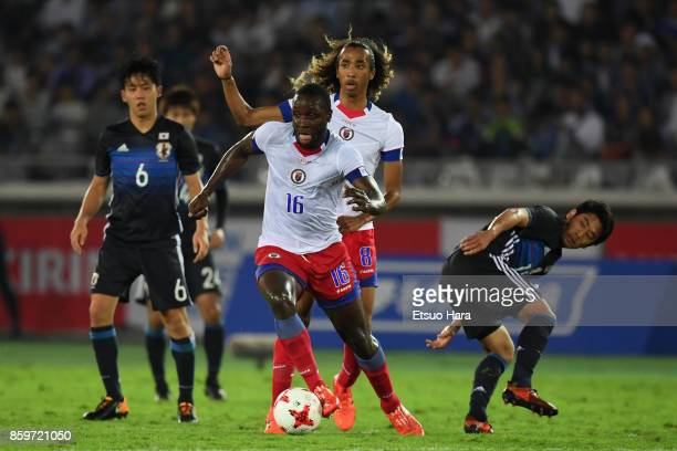 Andrew Anderson JeanBaptiste of Haiti in action during the international friendly match between Japan and Haiti at Nissan Stadium on October 10 2017...