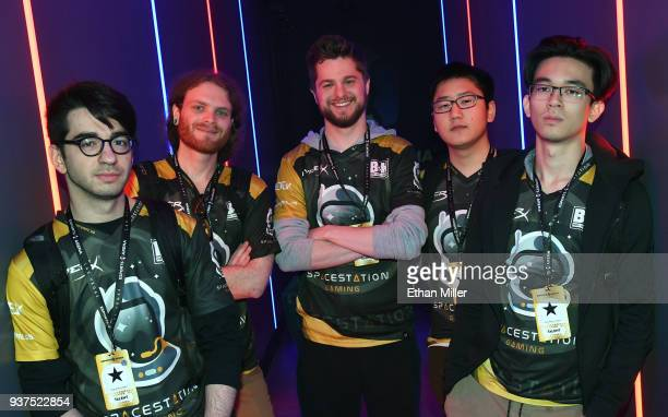 Andrew 'Andinster' Woodward Rosario 'Jeffhindla' Vilardi John 'BaRRaCCuDDa' Salter Woonyoung 'Baskin' Kim and Ryan Oh 'Aquarius' Neill of the...