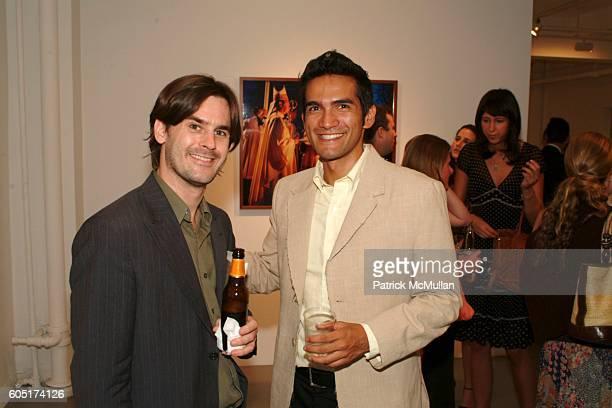 Andrew Atkinson and Tairone Bastien attend KiptonART and Moti Hasson Gallery present ADVENTURA at Moti Hasson Gallery on September 7 2006 in New York...