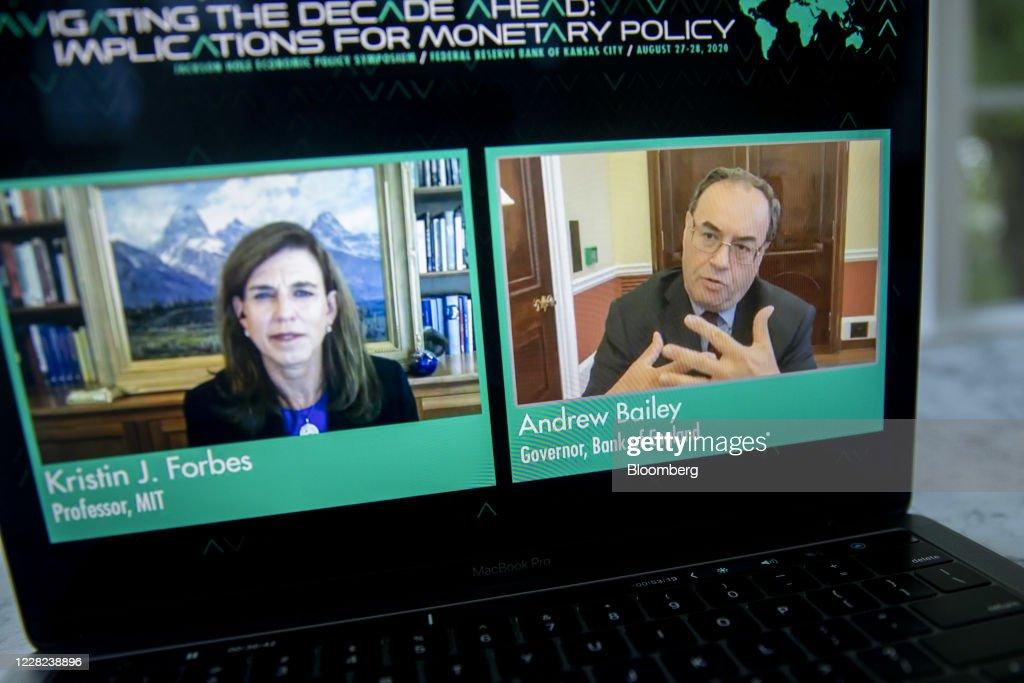 Virtual Speakers During Federal Reserve Jackson Hole Economic Symposium : News Photo