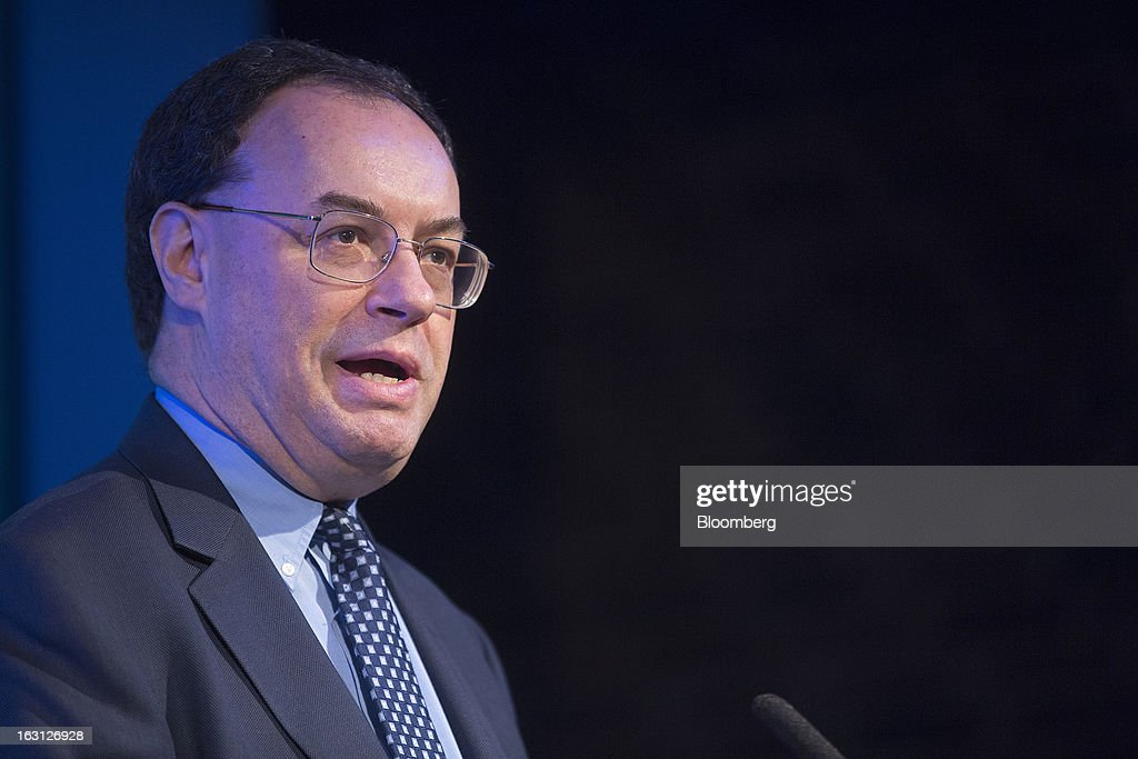 Andrew Bailey, incoming chief executive officer of the U.K. Prudential Regulation Authority, speaks during his keynote address at the Euromoney Bond Investors Congress in London, U.K., on Tuesday, March 5, 2013. Bailey will lead the Prudential Regulation Authority, which oversees banking and insurance industry stability, on April 1 when the Financial Services Authority (FSA) is broken up. Photographer: Simon Dawson/Bloomberg via Getty Images